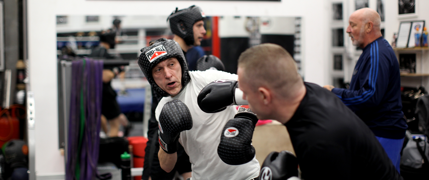 Sparring at the Tower Fitness Gym