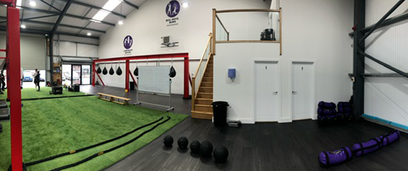 Wide angle shot fo the Tower Fitness Fakenham Gym